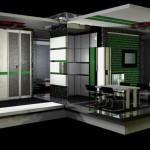 Interior of living module.
