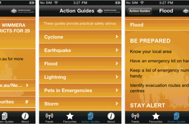 emergency phone app design for disaster aid victims - App Design Ideas