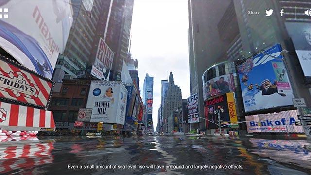 New York flooded